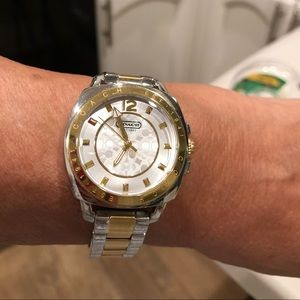 Coach two-tone bracelet watch